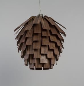 Tom Raffield Scots Light Pendant Walnut