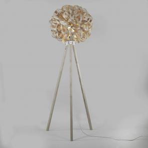 Tom Raffield Giant No.1 floor light and wooden stand ash