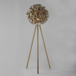 Tom Raffield Giant No.1 floor light and wooden stand oak