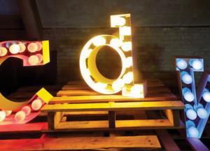 'CDW' LETTER LIGHTS